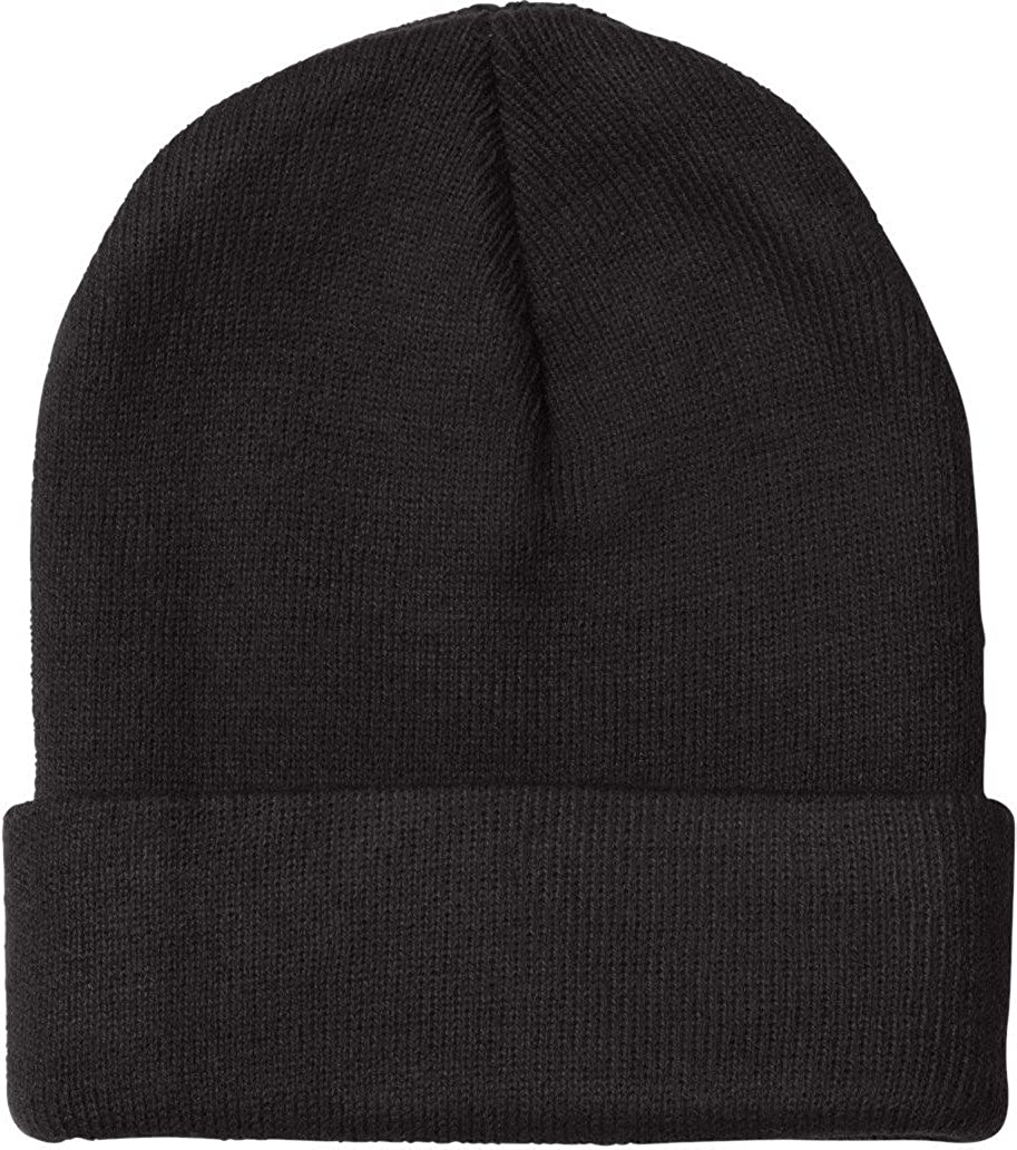 395bba13b5c Bayside 3825 - USA-Made 12 Inch Knit Beanie with Cuff  Amazon.in  Clothing    Accessories