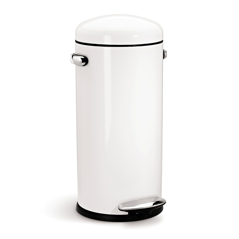 Greatest Amazon.com: simplehuman Round Retro Step Trash Can, Red Steel, 30  IG84