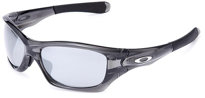 ac7426e7d2 Amazon.com  Oakley Pit Bull Men s Asian Fit Sunglasses - Grey Smoke ...