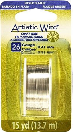 34 Yards #WRH205 26 Gauge Silver Beadsmith Craft Wire