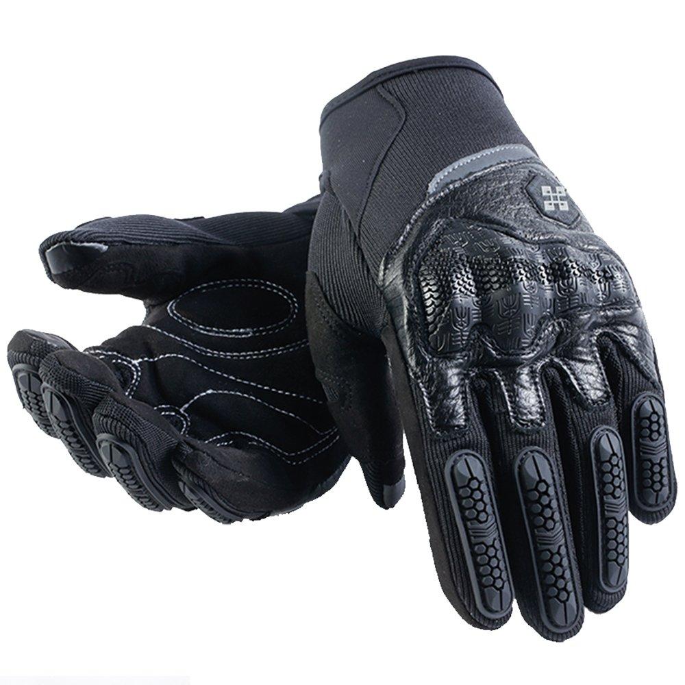 ILM Motorcycle Gloves Touchscreen Fits for Dirt Bike ATV Summer Men Women (Black, L)