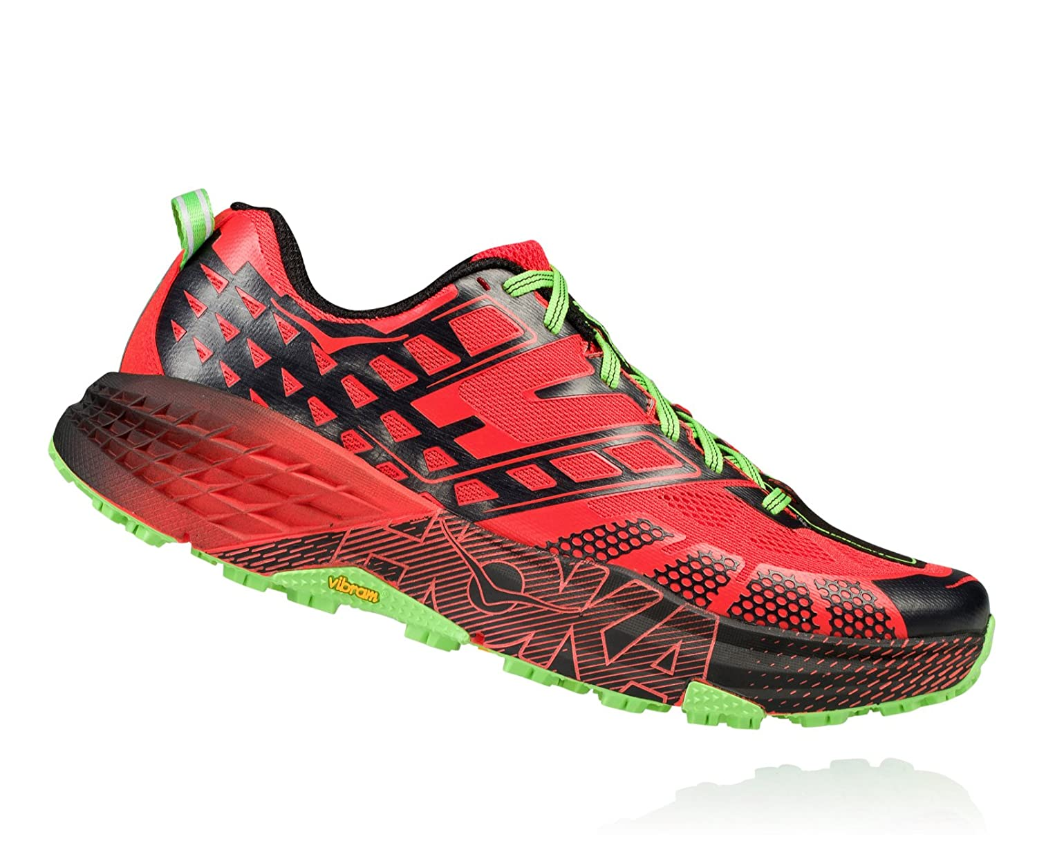 HOKA ONE ONE Mens Speedgoat 2 Trail Running Shoe Grenadine/Jasmine Green Size 9 M US: Amazon.es: Zapatos y complementos