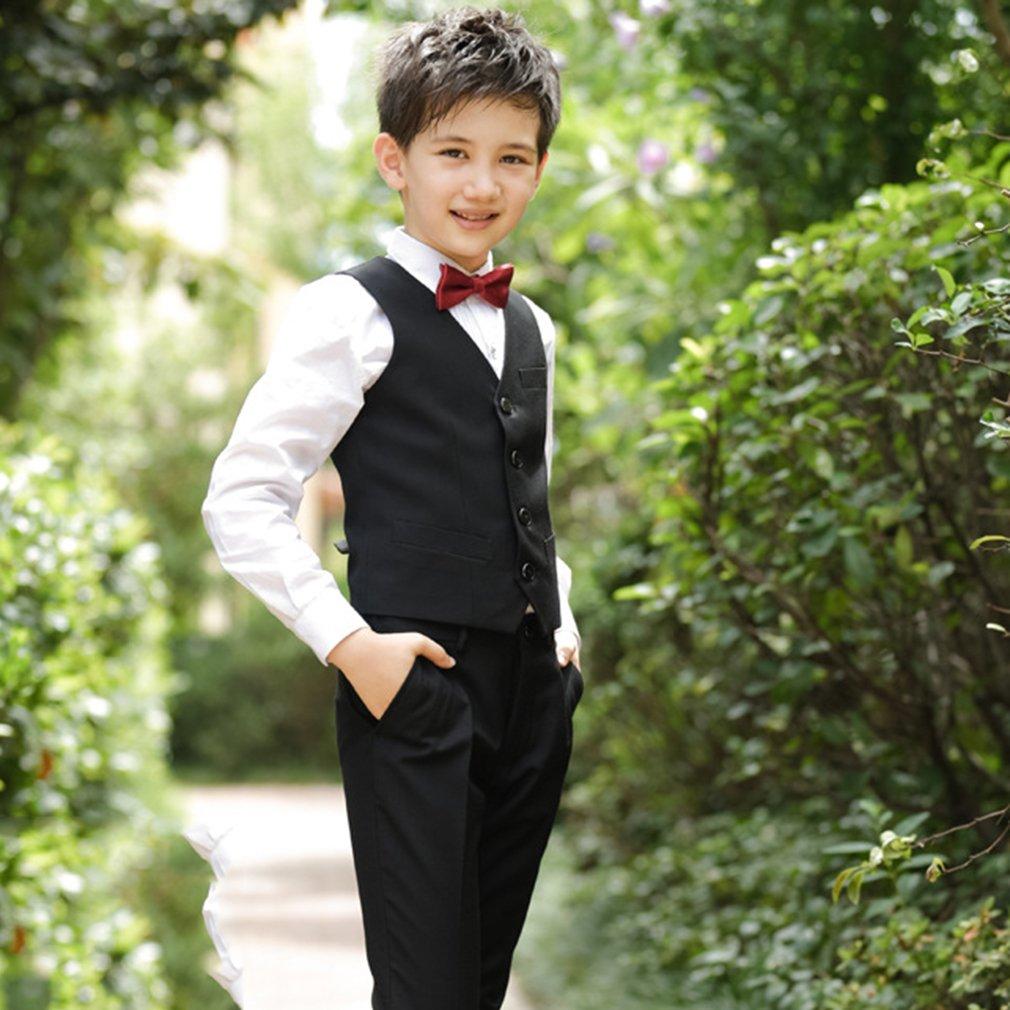Cloud Kids Kinder Anzug Jungen Jungen Jungen Festlich Schwarzer Anzug mit Jacke Hemd Weste Fliege Hose B07FV9P45D Anzüge & Sakkos Primäre Qualität 89074e