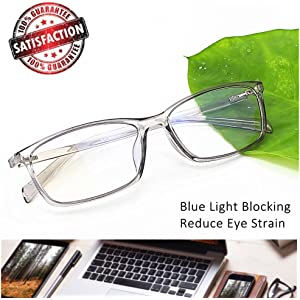 1c40fd694ae Computer Reading Glasses Blue Light Blocking - Reader Eyeglasses Anti Glare  Eye Strain Light Weight for