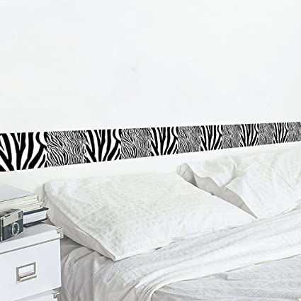 Wallpaper Border Home Decor Zebra Stripes Removable Vinyl Peel And Stick Wall Waist Line For