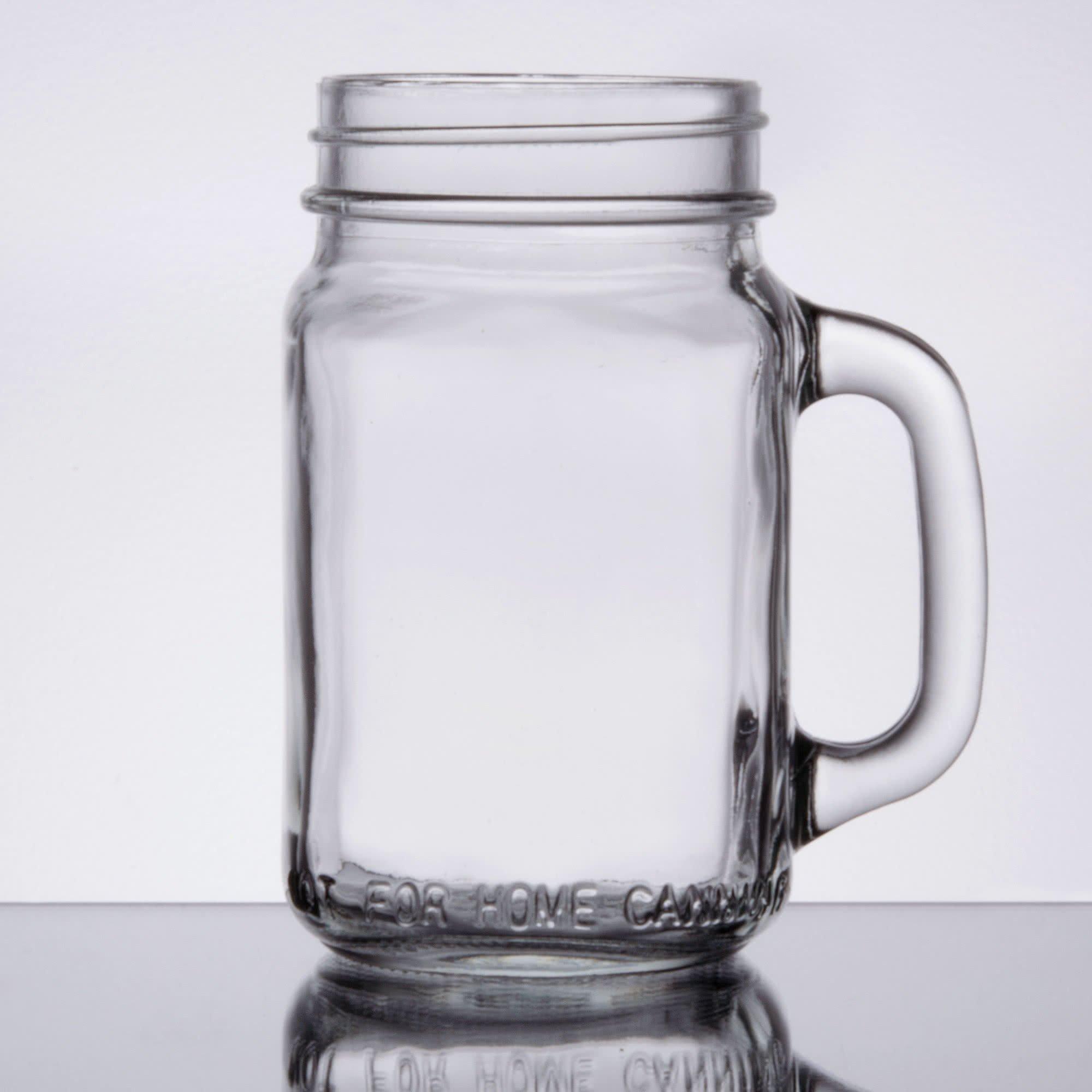 Core 16 oz. Mason Jar/Drinking Jar with Handle - 12/Case
