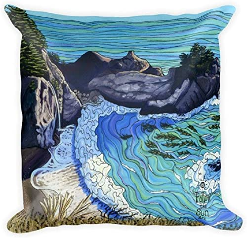 Follow the Sun Art Decorative Accent Throw Pillow, Both Sides Printed, 18 x 18 McWay Falls