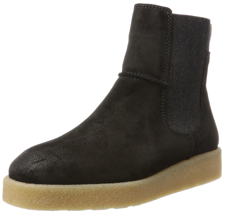 Marc O'Polo Flat Heel 70914295001304, Botas Chelsea para Mujer39 EU Negro (Black)