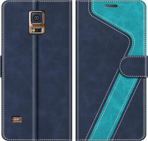 MOBESV Coque pour Samsung Galaxy S5, Housse en Cuir Samsung Galaxy S5, Étui Téléphone Samsung Galaxy S5 Magnétique Etui Housse pour Samsung Galaxy S5 ...