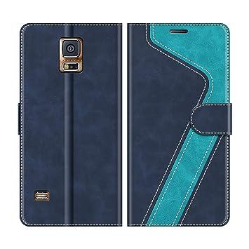 MOBESV Funda para Samsung Galaxy S5, Funda Libro Samsung S5, Funda Móvil Samsung Galaxy S5 Magnético Carcasa para Samsung Galaxy S5 / S5 Neo Funda con ...