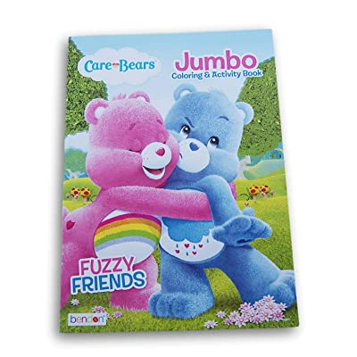 Care Bears Fuzzy Friends Coloring and Activity Book - 80 Pages: Toys & Games