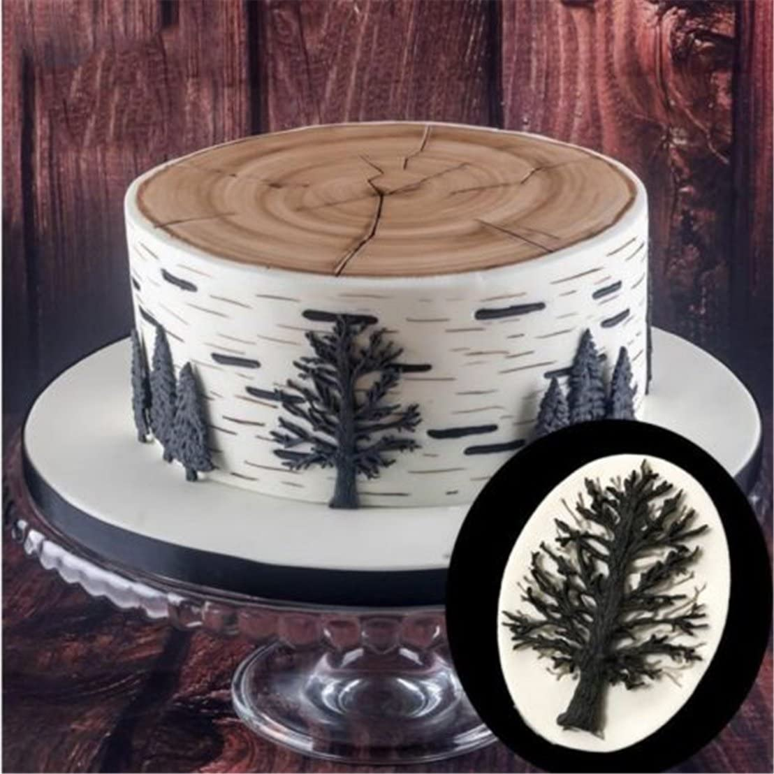 Christmas Tree Branch Silicone Mold Fondant Chocolate Cake Decor Mould DIY Bake