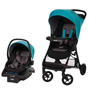 Safety 1st Smooth Ride Travel System With Onboard 35 Infant Car Seat Lake Blue