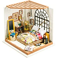 Rolife DIY Miniature Dollhouse Kit,Dreamy Bedroom with Furniture,Wooden Dollhouse Kit for Kids,Toy Playset Teens,Best…