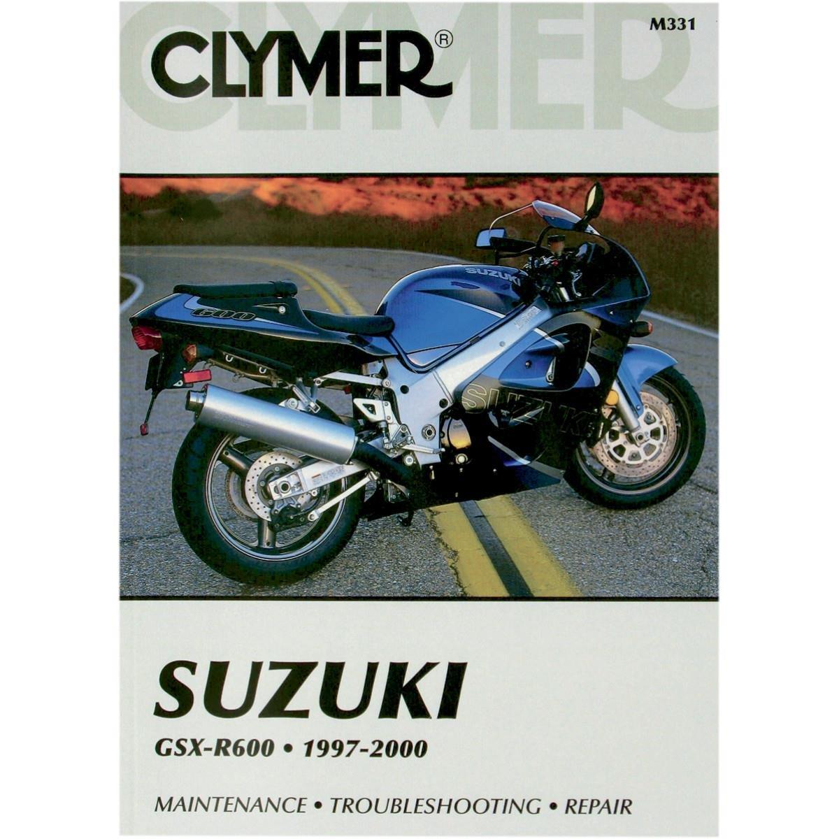 Amazon.com: Clymer Repair Manual for Suzuki GSX-R600 GSXR-600 97-00:  Automotive