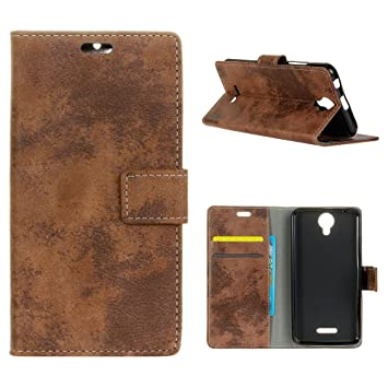 MOONCASE Wiko Harry Funda, [Retro Book Style] Built-in Card ...