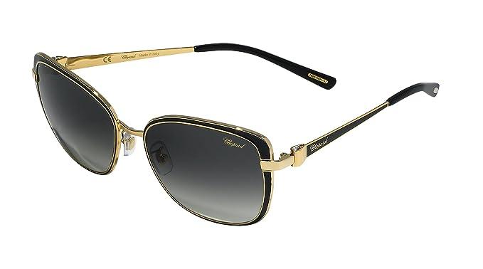Amazon.com: anteojos de sol CHOPARD SCHB 69 S Negro con Oro ...