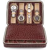 Amzdeal Watch Display Box Zippered Luxury Watch Box
