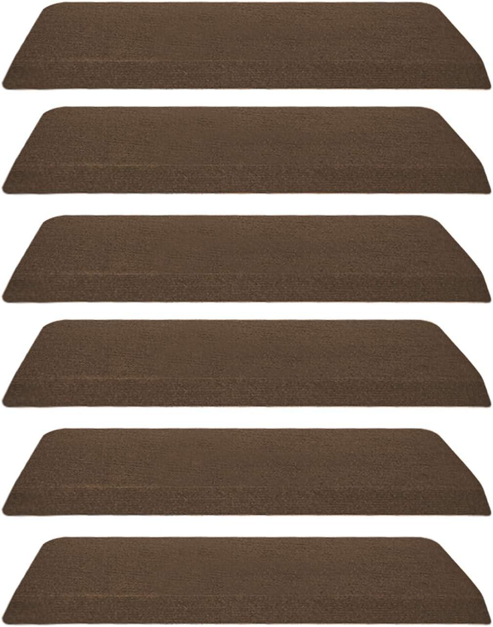Jolitac - Juego de 15 alfombrillas para escaleras, 22 x 65 cm, color marrón: Amazon.es: Hogar