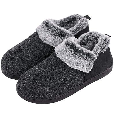 7d900fbec VeraCosy Ladies' Wool-Like Fleece Clog Slippers, Comfort Memory Foam  Anti-Slip
