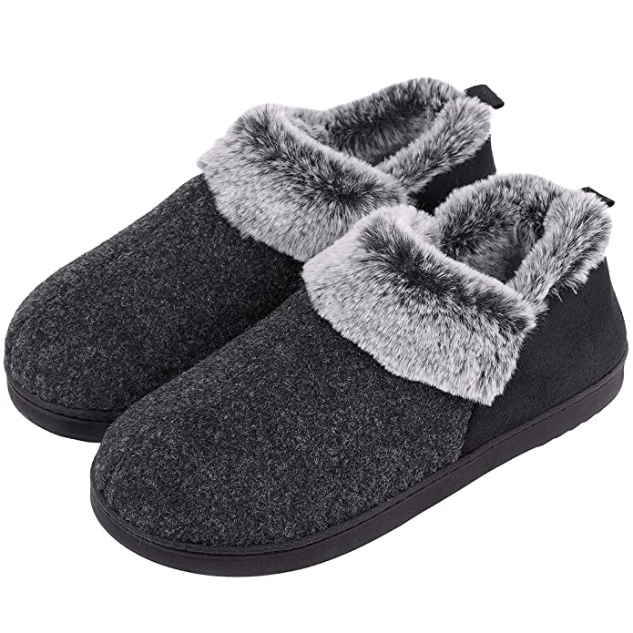 80527b9cb VeraCosy Ladies  Wool-Like Fleece Clog Slippers