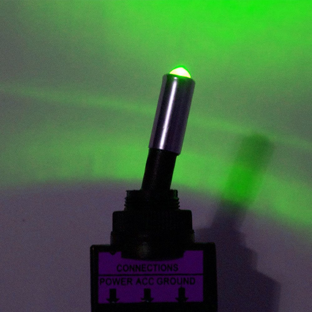 Supmico 4 X Interrupteur Inverseur /à Bascule Levier 12V 20A LED Bleu Rouge Vert Jaune Moto