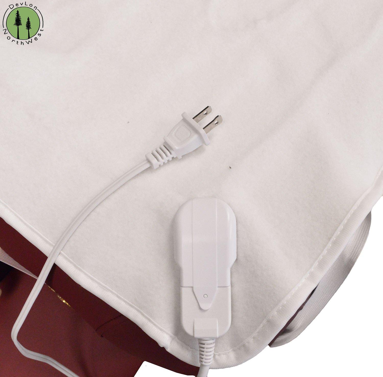 DevLon NorthWest Massage Table Warmer Pad Digital Heat Settings Digital Timer Portable Auto Overheat Protection