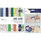 Dear Lizzy Star Gazer Bundle with 6x6 Inch Paper Pad and Ephemera (Set of 2 Items)
