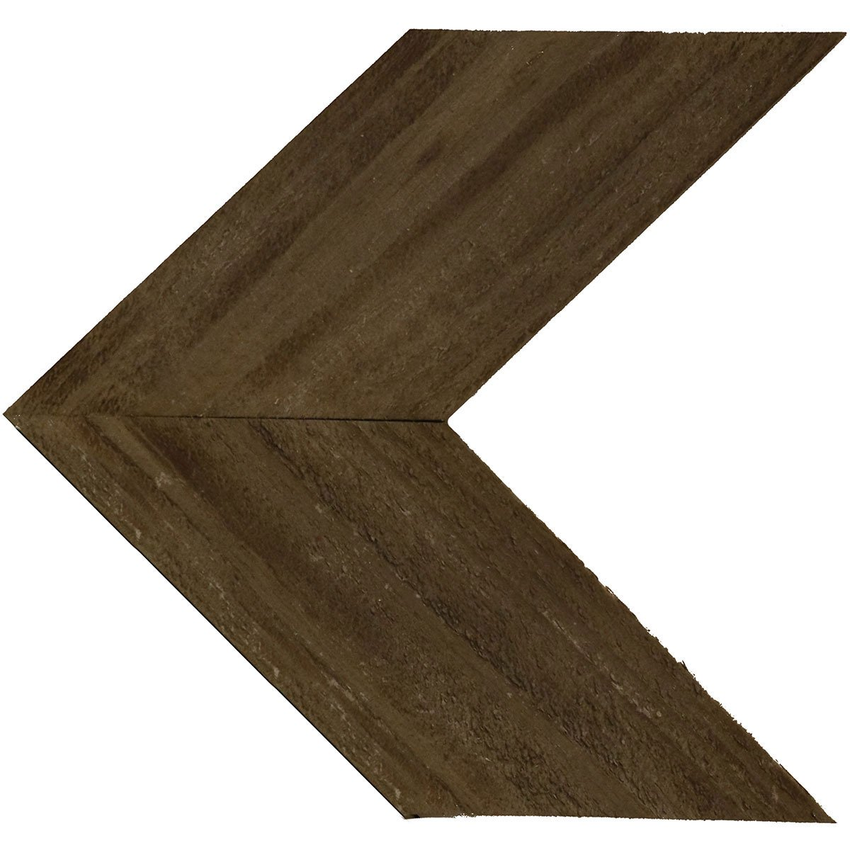 Ekena Millwork DECR14X14X075CHVGY-CASE-2 Wood Chevron, W x 14'' H x 3/4'' D, Reclaimed Grey