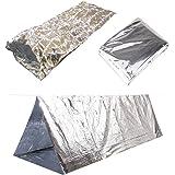 Emergency Thermal Outdoor Survival Camping Kit - Blanket, Tent, Sleeping Bag