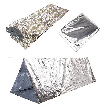Emergency Thermal Outdoor Survival C&ing Kit - Blanket Tent Sleeping Bag  sc 1 st  Amazon.com & Amazon.com : Emergency Thermal Outdoor Survival Camping Kit ...