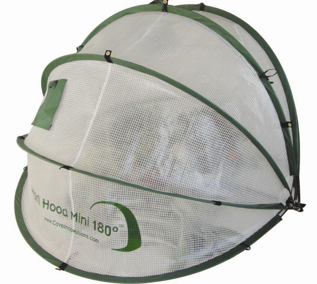 Horti Hood 90 Degree Mini Wall Mounted Folding Cloche - Natural Rob McAlister Ltd