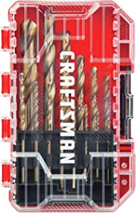 CRAFTSMAN Drill Bit Set, Gold Oxide, 14-Piece (CMAM2214)