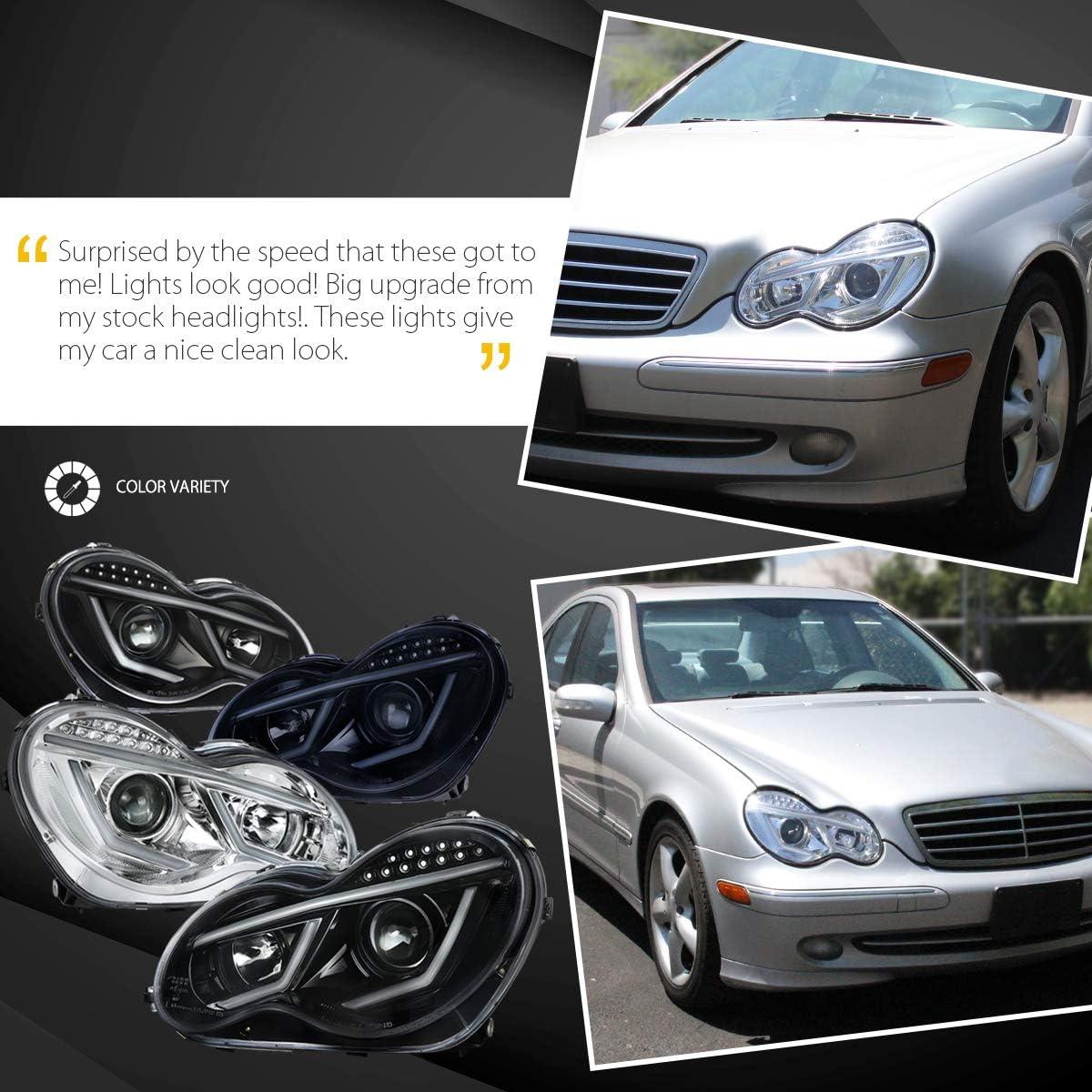 Mercedes C-Class CL203 55w Clear Xenon HID Low Dip Beam Headlight Bulbs Pair
