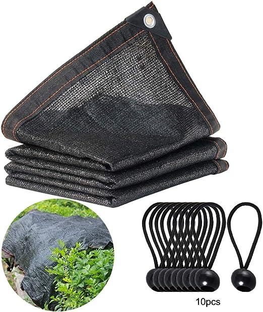 RB - Paño protector solar 70% 6, 56 x 6, 56 pies para cubierta de plantas, invernadero, granero, alberca, pérgola o piscina, plantas de protección de flores, incluye 8 unidades de cuerdas
