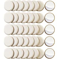40PCS 1-3/4in.Self Stick Carpet Sliders Self Adhesive Furniture Moving Slider for Carpet Slider,Self-Adhesive Furniture Slider,Moving Pads Moving Furniture Sliders,Furniture Mover Glides Glider