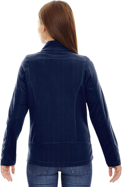 Night Ash City Womens Generate Ladies Textured Fleece Jacket