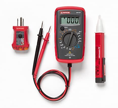 amprobe pk 110 electrical test kit with voltage probe amazon com rh amazon com GFCI Tester GFCI Tester