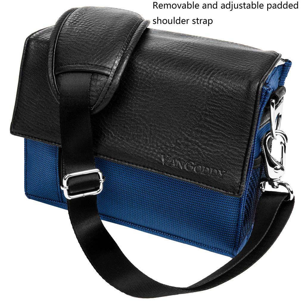 Vamvo iCODIS ZOPro Miroir Blue AMOOAW Shock Resistant Shoulder Small Projector Case Bag Fit AAXA