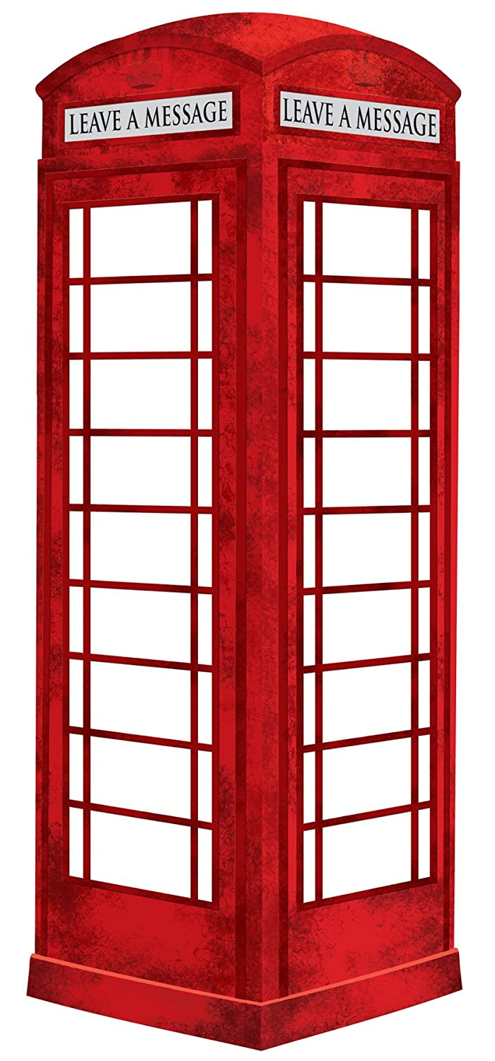 Wall Pops WPE0649 WPE0649 London Phone Booth Dry Erase Wall Decal WallPops