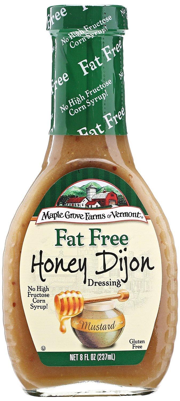 Maple Grove Farms Fat Free Honey Dijon Dressing - 8 ounce - 12 per case.