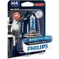 Philips 12342CVUBW Crystalvision Ultra Moto H4 Koplamp voor motorfiets, 1 stuk