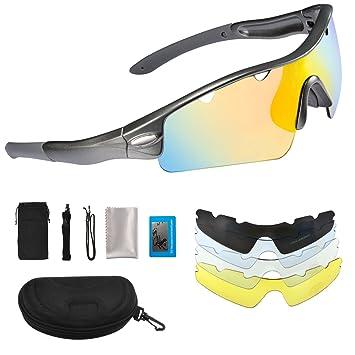 omorc polarizadas gafas de deporte, solar Shield Wayfarer Gafas, UV400 protección con TR90 marco