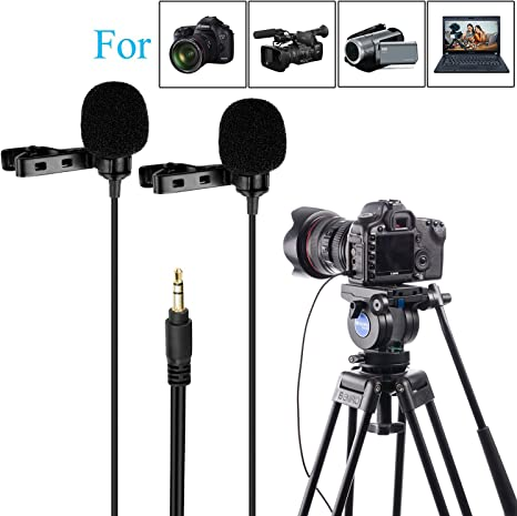 Boya by-lm300 dual-lavalier micrófono para nikon canon sony cámara ...