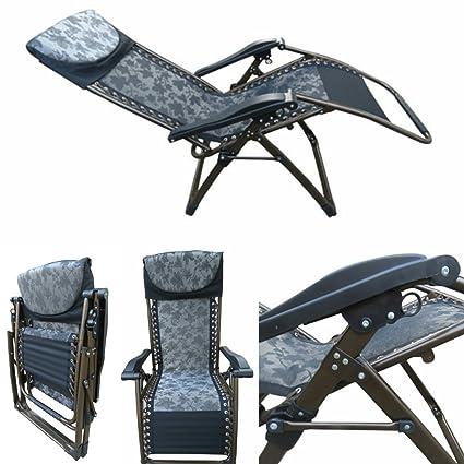 U0026quot;Amazeu0026quot; Folding Zero Gravity Recliner Push Back Easy Relax  Portable Outdoor Indoor Sea