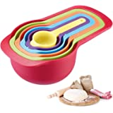 Westmark Set de cucharas medidoras de 6 piezas, Rangos de medición: 7.5 / 15/60/85/125/250 ml, Plástico, Sin BPA…
