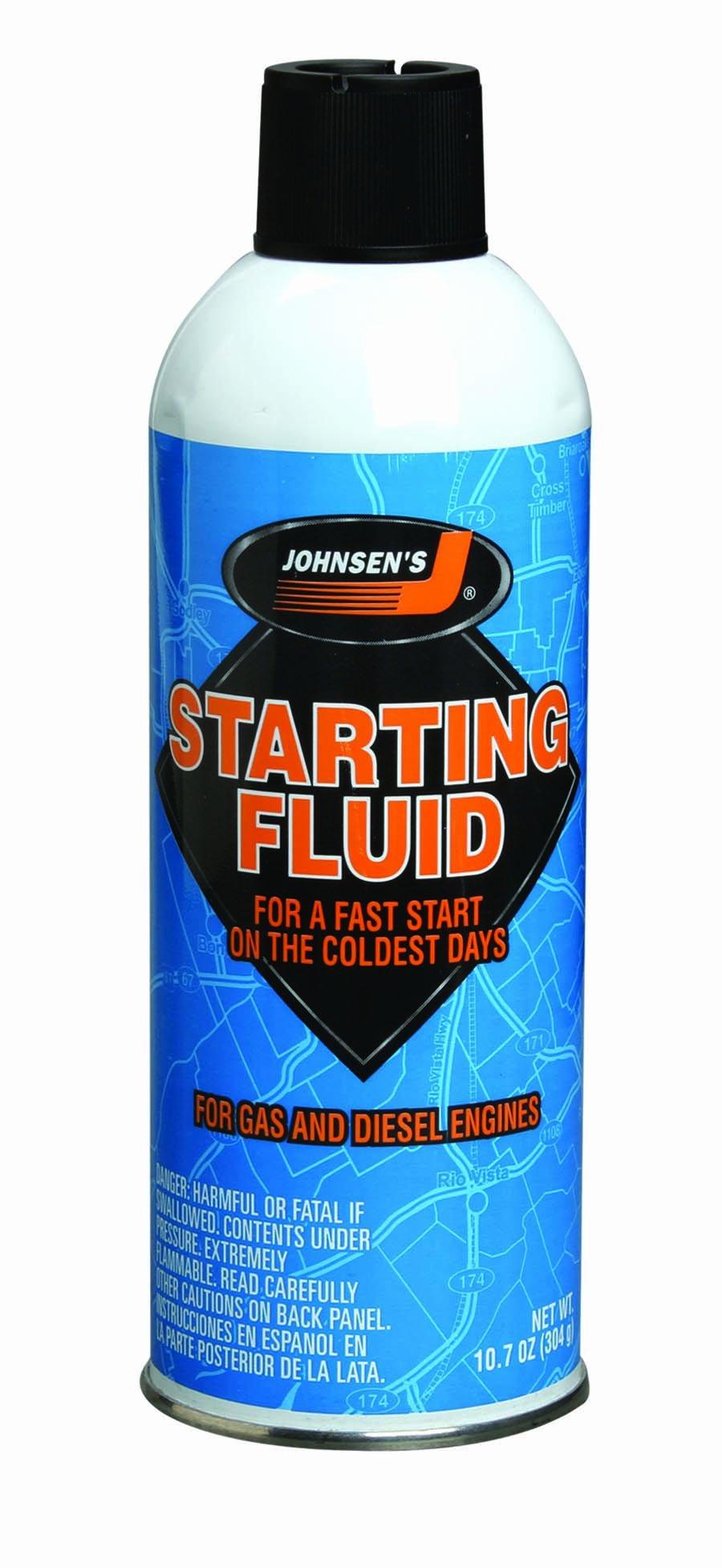Johnsen's 6762-12PK Starting Fluid - 10.7 oz, (Pack of 12) by Johnsen's