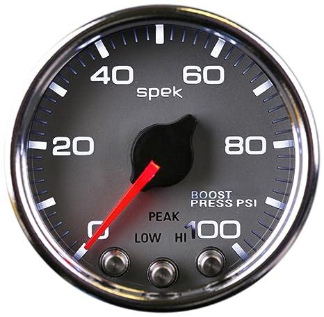 """AutoMeter Auto Meter P30521 Gauge, Boost, 2 1/16"""", 100Psi,"""