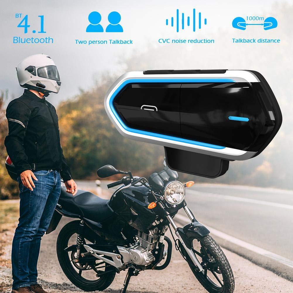 450 mAh Auriculares inal/ámbricos para Casco de Motocicleta intercomunicador Bluetooth inal/ámbrico BT