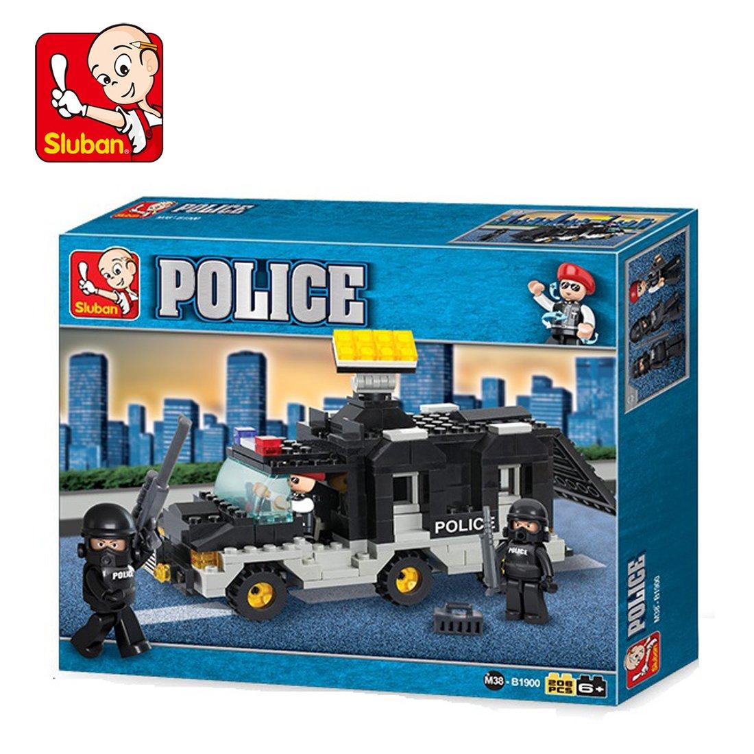 Sluban M38 B1900 Rioi Police, Multi Color  206 Pieces  Buildings